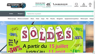 Site internet de Integral Peche