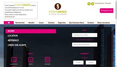 Site internet de Intensimmo