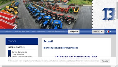 Site internet de Inter Business Fr