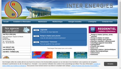 Site internet de Inter Energies Climasud