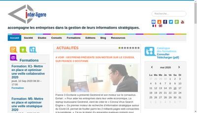 Site internet de Inter Ligere - Mes Reseaux