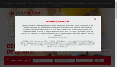 Site internet de Interaction Delta