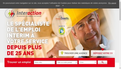 Site internet de Interaction Loire