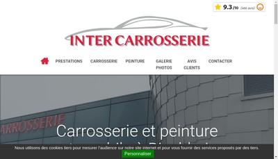 Site internet de Inter Carrosserie