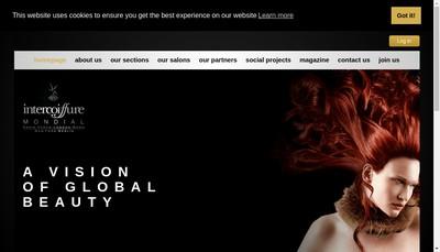 Site internet de Intercoiffure Mondial Management (Imm)