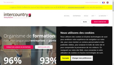 Site internet de Intercountry Management