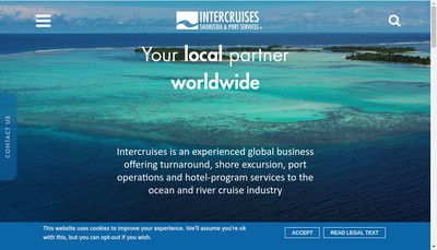 Site internet de Intercruises Shoreside & Port Services