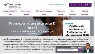 Site internet de Natixis Interepargne