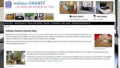 Site internet de Interieur Granit