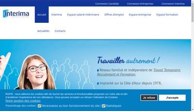 Site internet de Interima