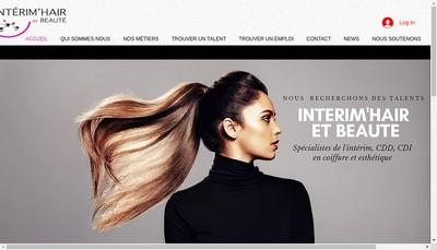 Site internet de Interim'Hair et Beaute