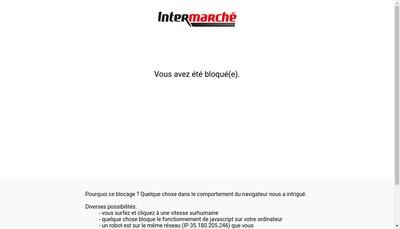 Site internet de Intermarche