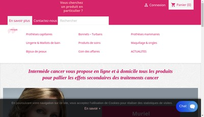 Site internet de Intermede Cancer