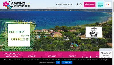 Site internet de Camping International la Reserve