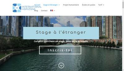 Site internet de International Horizons