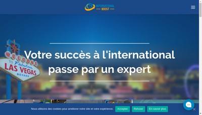 Site internet de International Boost