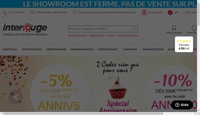 Site internet de Interouge Com SAS