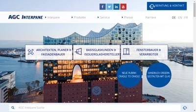 Site internet de Agc Interpane Glass France