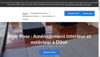 Site internet de Inter Pose