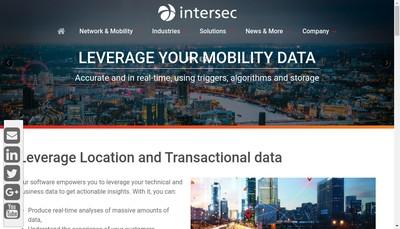 Site internet de Intersec