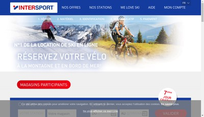 Site internet de Intersport