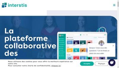 Site internet de Interstis