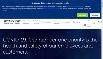 Site internet de Interxion France