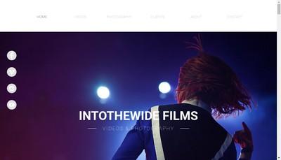 Site internet de Into The Wide Films