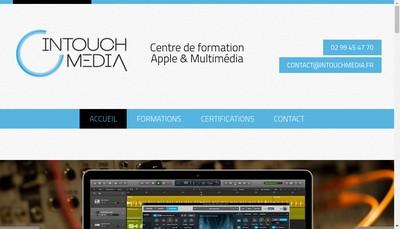 Site internet de Intouch Media Accelerateur de Passion
