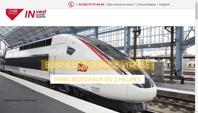 Site internet de Atlantique Sud Invest