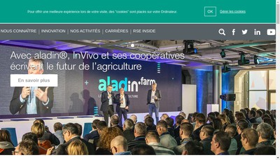 Site internet de Invivo Group