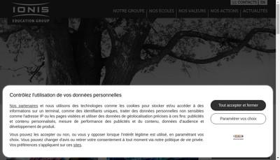 Site internet de Ecole Superieure d'Informatique - Supinfo Paris