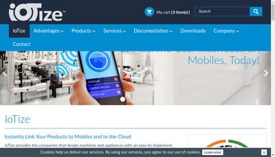 Site internet de Iotize