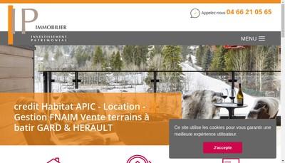 Site internet de IP Investissement Patrimonial
