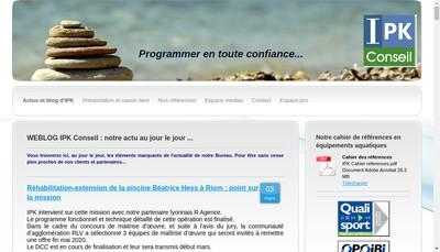 Site internet de Ipk Conseil