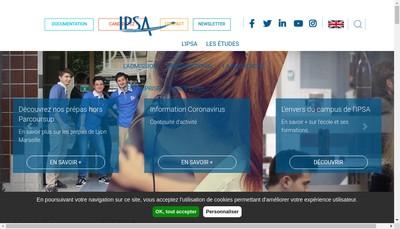 Site internet de Institut Polytechnique des Sciences Avancees
