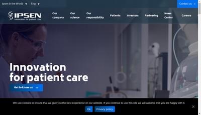 Site internet de Ipsen Consumer Healthcare