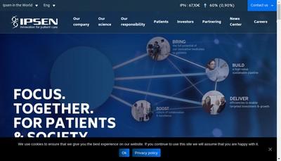 Site internet de Ipsen Innovation