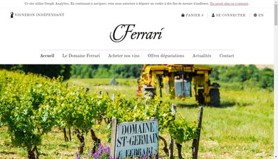 Site internet de SARL Christophe Ferrari Negoce