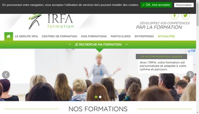 Site internet de Association Irfa Normandie Maine