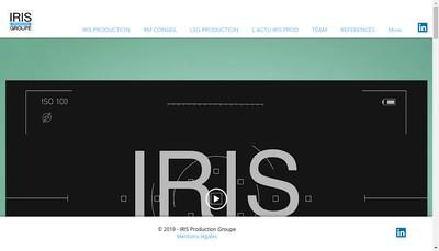 Site internet de Iris Production Conseil Realisa Audiovis