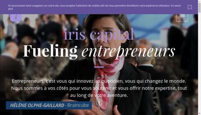 Site internet de Iris Capital Partners