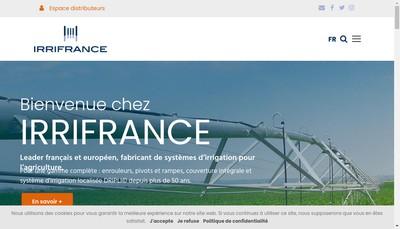 Site internet de Irrifrance Groupe