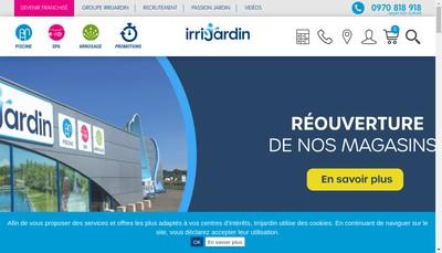 Site internet de Irrijardin