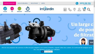 Site internet de Irrijardin