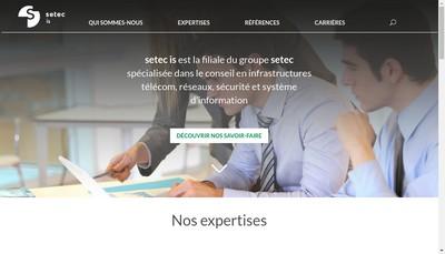 Site internet de Setec Is