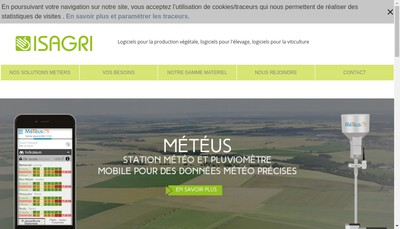 Site internet de Groupe Isagri Media