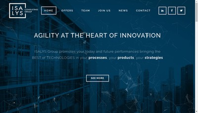 Site internet de Isalys Consulting France