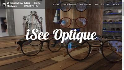 Site internet de Isee Optique