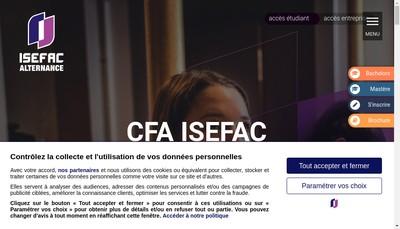 Site internet de IPL Isefac Paris Lille